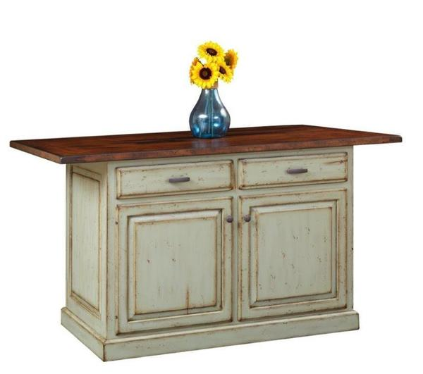 Amish Country Style Traditional Kitchen Island