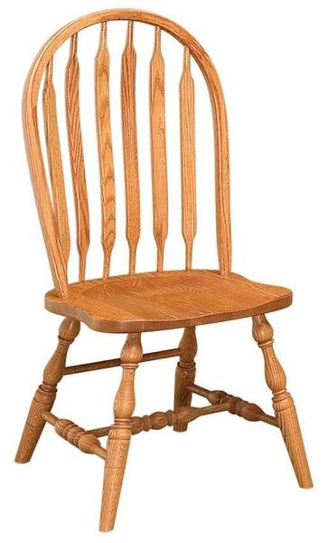 Amish Bent Paddle Windsor Kitchen Chair