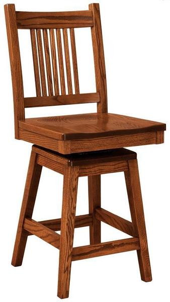Amish Centennial Mission Bar Stool with Swivel
