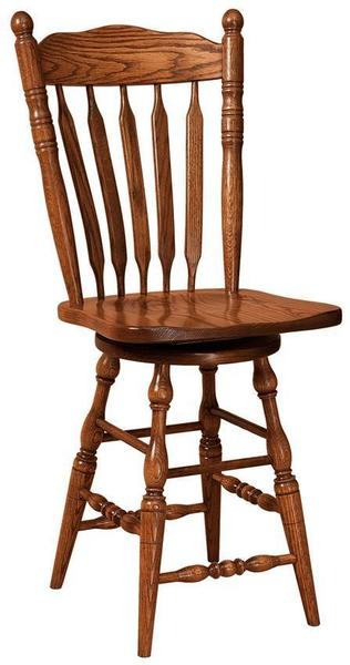 Amish Post Paddle Stool with Swivel
