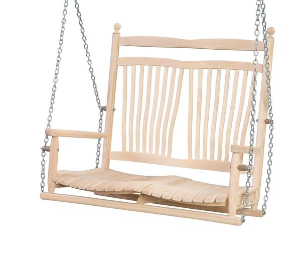 Ask Us A Question Amish Ash Wood Fanback Porch Swing