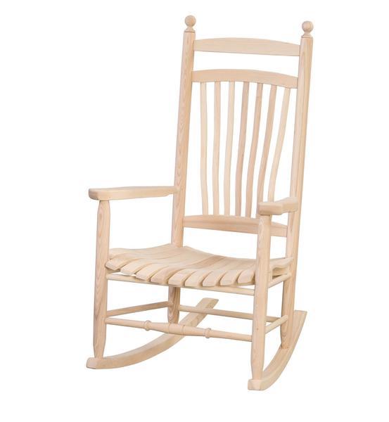 Amish Ash Wood Fanback Porch Rocking Chair