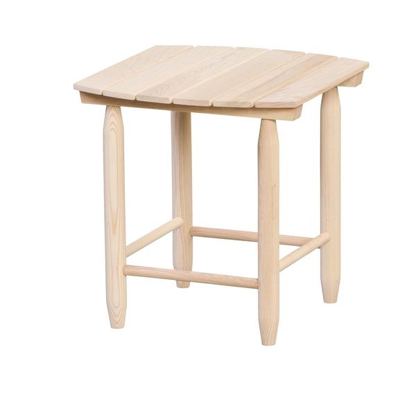 Amish Ash Wood Outdoor Accent Table
