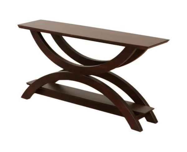 Amish Gateway Sofa Table with Shelf