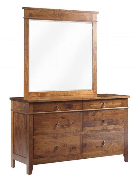 Amish Tucson Low Dresser with Optional Mirror