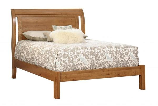 Amish Tucson Sleigh Bed with Low Footboard