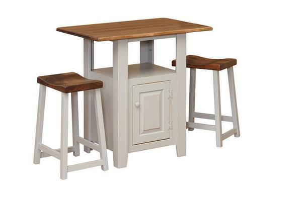 Amish Pine Kitchen Island with Maple Wood Top