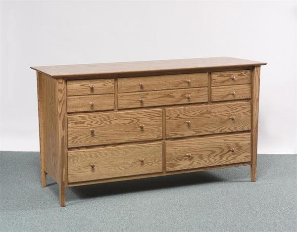 Amish Sheffield Double Dresser with Optional Mirror