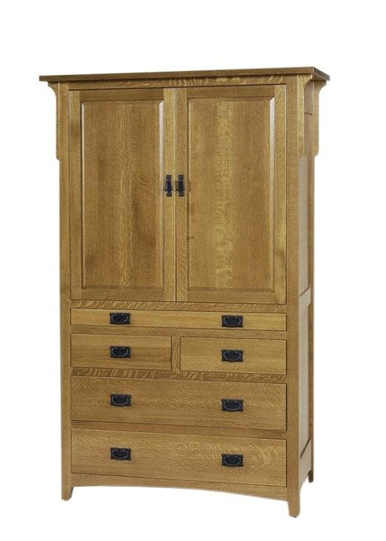 Amish Millcreek Mission Tray Armoire