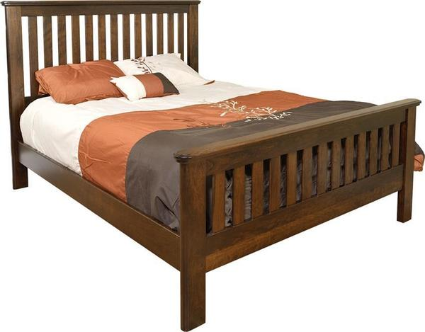 Amish Tuscany Slat Bed with Standard Footboard