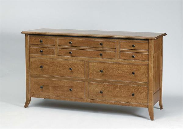 """Amish Bunker Hill 60"""" Dresser with Optional Mirror"""