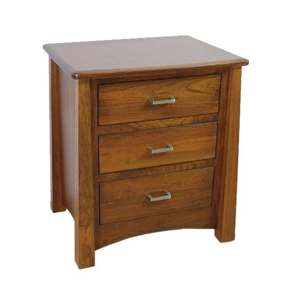 Amish Mission 3-Drawer Nightstand