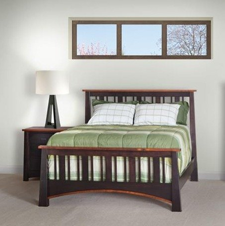 Amish Madison Slat Bed with Standard Footboard
