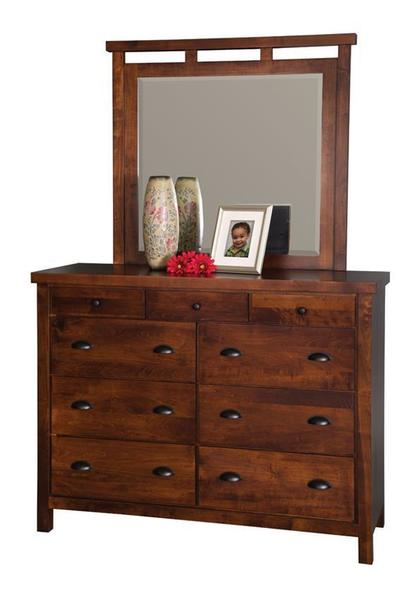 Amish Times Square Dresser with Optional Mirror
