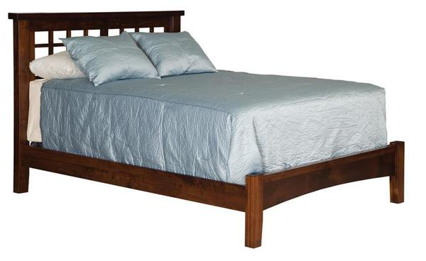 Amish Times Square Slat Bed with Low Footboard