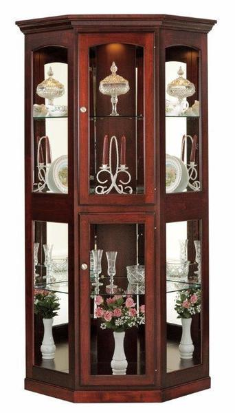 Large Corner Curio Cabinet From Dutchcrafters Amish Furniture