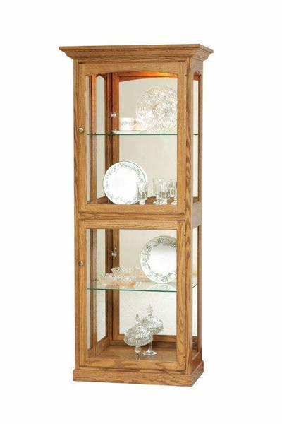 Amish Wood Curio Cabinet