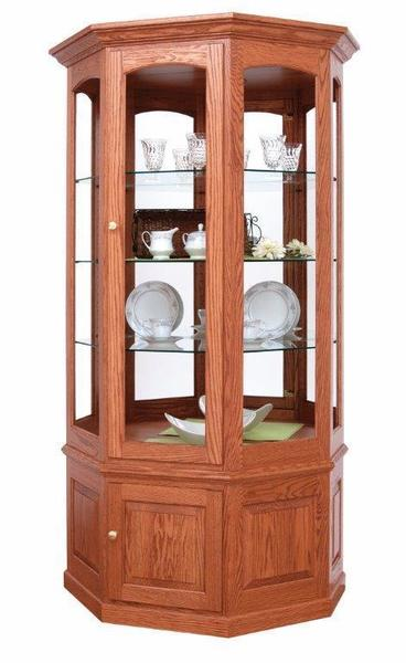 Amish Deluxe Glass Curio Cabinet