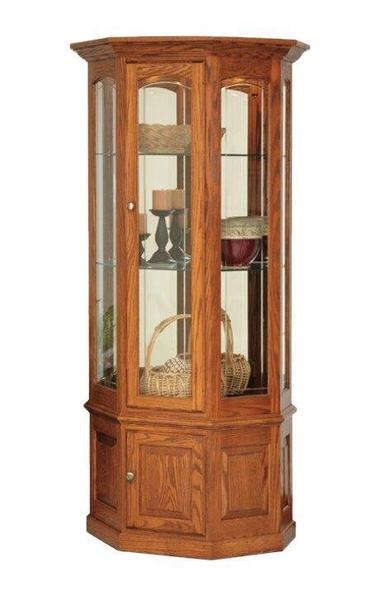 Amish Deluxe Glass Curio Cabinet with Lights