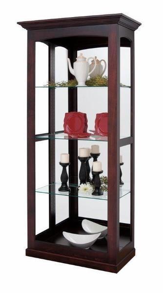 Amish Large Sliding Glass Door Curio Cabinet