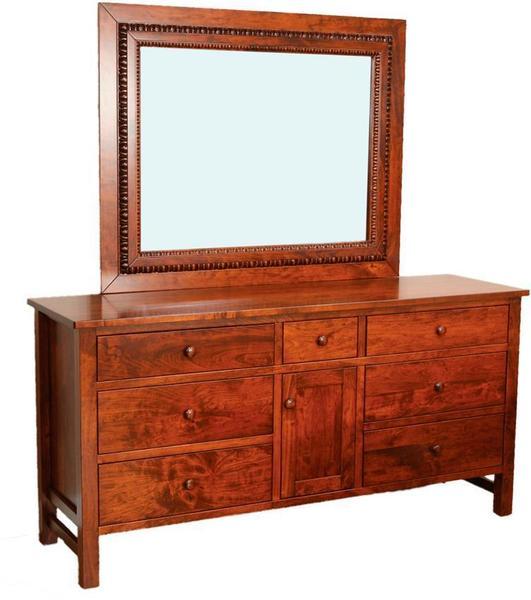Amish Cabin Creek 7-Drawer Dresser with Optional Mirror