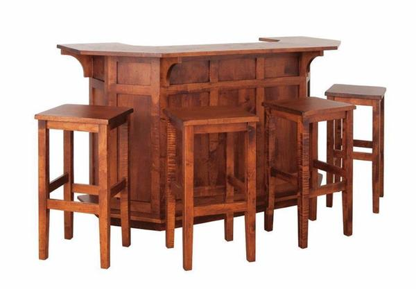 Amish Mission Square Bar Stool