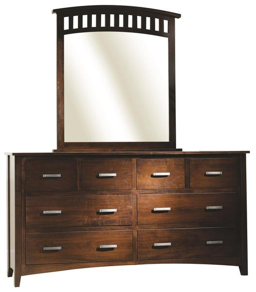 Amish Cambrai Mission Dresser with Optional Mirror