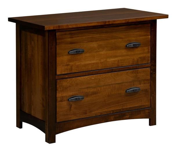 Amish Oakwood 2 Drawer Lateral File