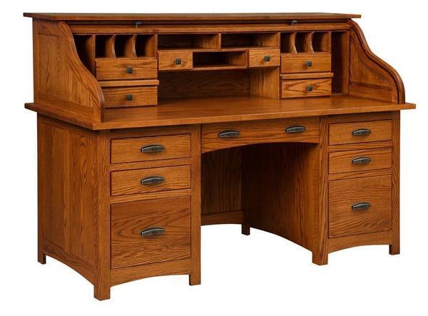 Amish Oakwood Rolltop Desk