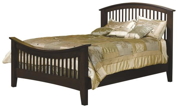 Amish Cambrai Mission Slat Bed