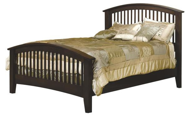 Amish Cambrai Mission Bed with Arched Footboard