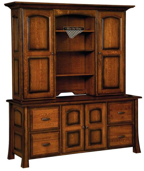 Amish Olde Century Credenza with Optional Hutch
