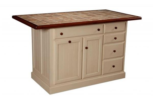 Amish Jefferson City Kitchen Island with Five Drawers