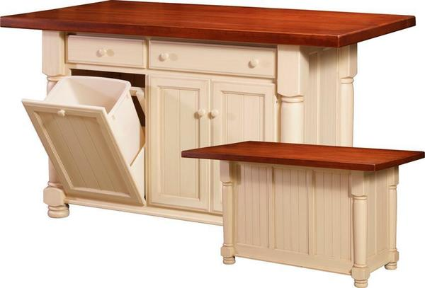 Amish Jefferson City Large Kitchen Island From