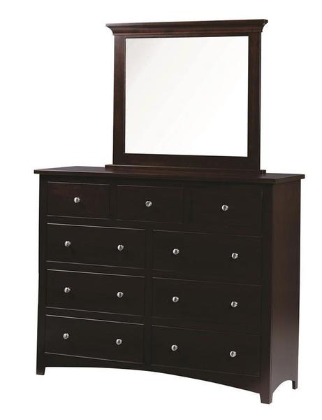 Amish Ellington Tall Dresser with Optional Mirror