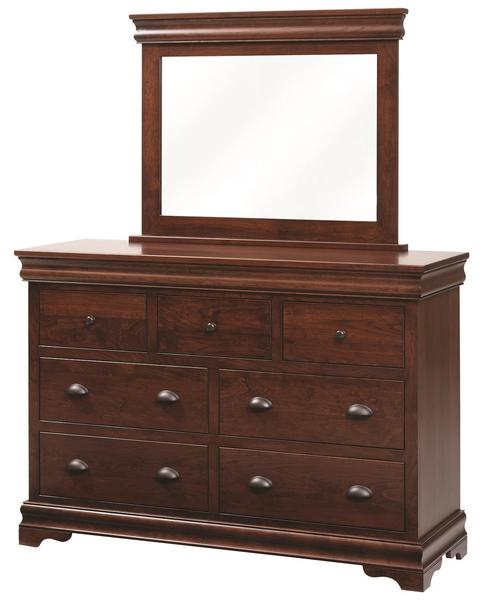 Amish Luxembourg Dresser with Optional Mirror
