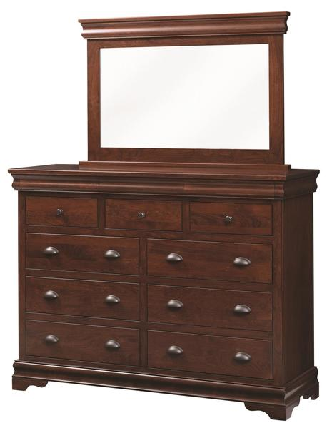 Amish Luxembourg Tall Dresser with Optional Mirror