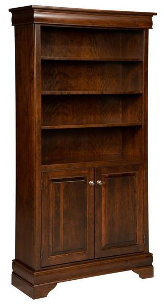 Amish Fairfield Bookcase with Doors