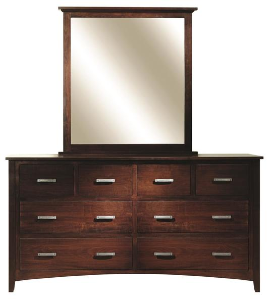 Amish Riverview Mission Dresser with Optional Mirror
