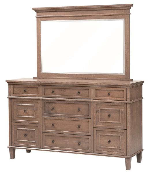 Amish Rockport Dresser with Optional Mirror
