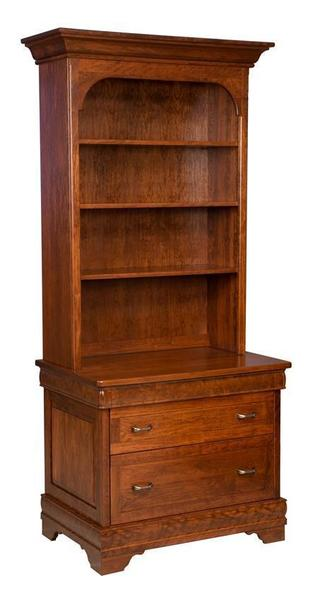 Amish Bellamy Lateral File with Optional Bookcase Top