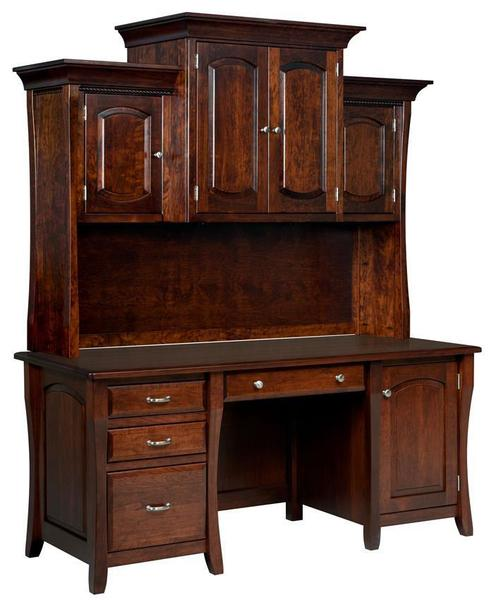 Amish Berkley Executive Desk with Optional Hutch