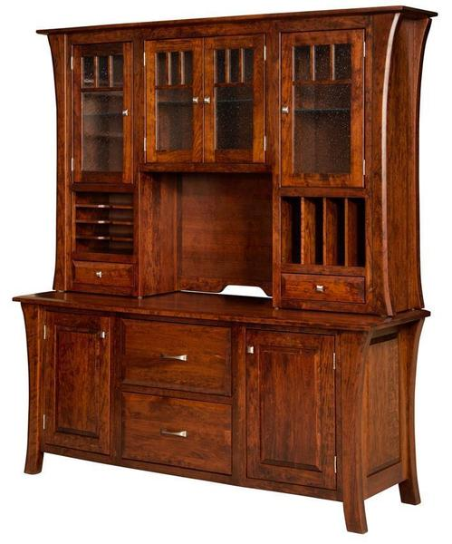 Amish Ensinada Credenza with Optional Hutch