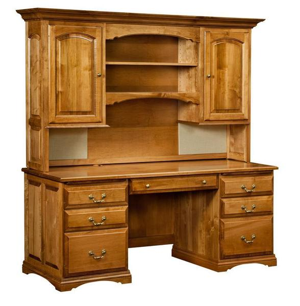 Amish Mannington Desk with Optional Hutch