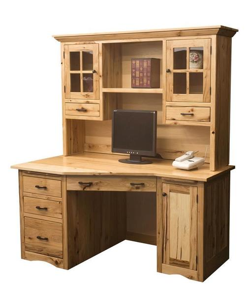 Amish Mission Wedge Desk with Optional Hutch