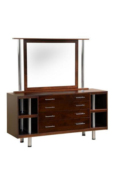 Amish Oak Point Dresser with Optional Mirror