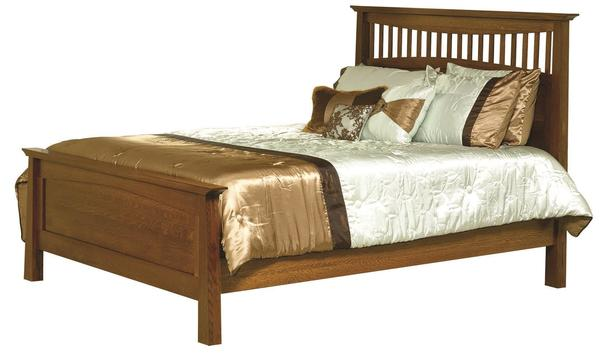 Amish Bow Ridge Mission Slat Bed