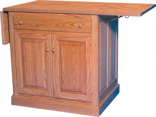 Amish Traditional Mission Flat Panel Kitchen Island