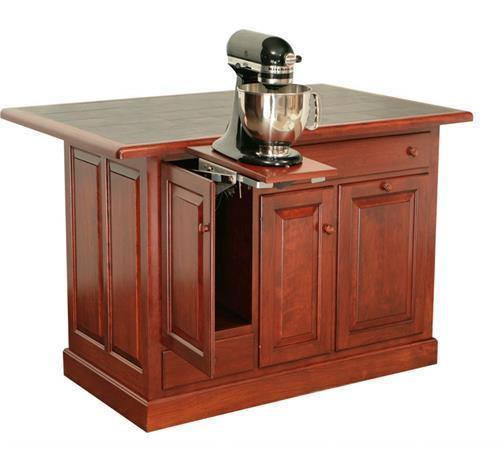 Amish Traditional Raised Panel Island with Two Drawers and Three Doors