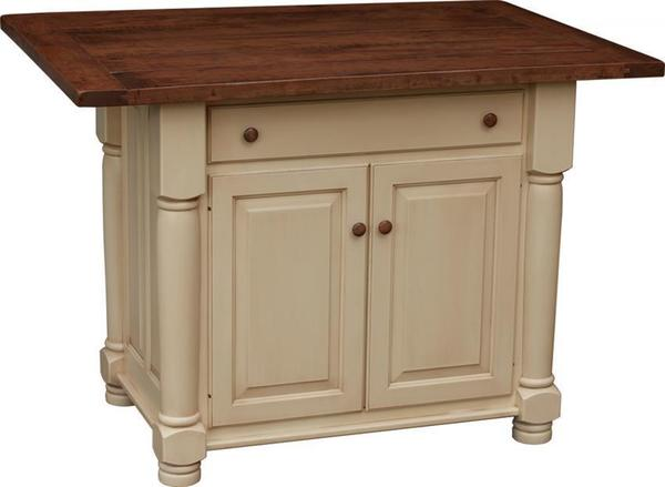 Turned Leg Kitchen Island With Two Doors From DutchCrafters Amish - Amish kitchen island